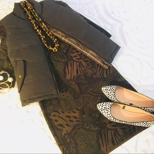Dresses & Skirts - Hunter Green Paisley Animal Sweater Dress