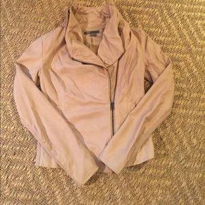Vince Leather Scuba jacket (blush)