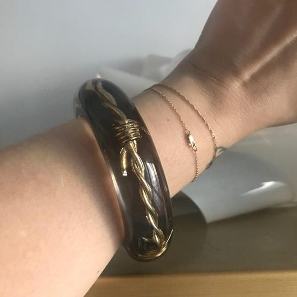 Luc Kieffer Jewelry - Luc Kieffer Barbed Wire Resin Bangle Bracelet