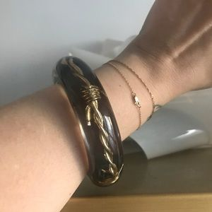 Luc Kieffer Jewelry - Luc Kieffer Barbed Wire Resin Bangle Bracelet