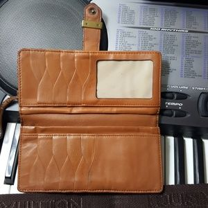 Cole haan leather wallet.