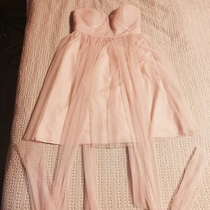 Jenny Yoo, Convertible Tulle Tea Length Dress