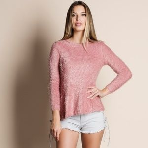 Pink Soft Fuzzy Sweater