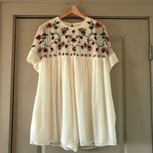 1a66e58f Zara embroidered jumpsuit dress