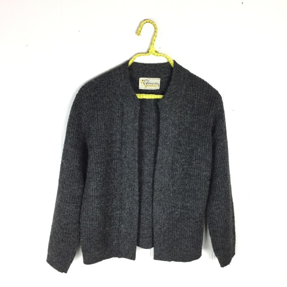 74% off Vintage Sweaters - Vintage Glengarry Chunky Charcoal Open ...