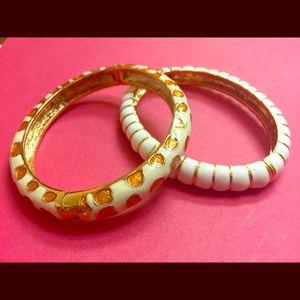 Kenneth Jay Lane Bangle Enamel Bracelets