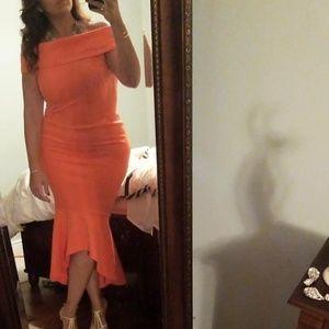 Asos drop peplum dress worn once