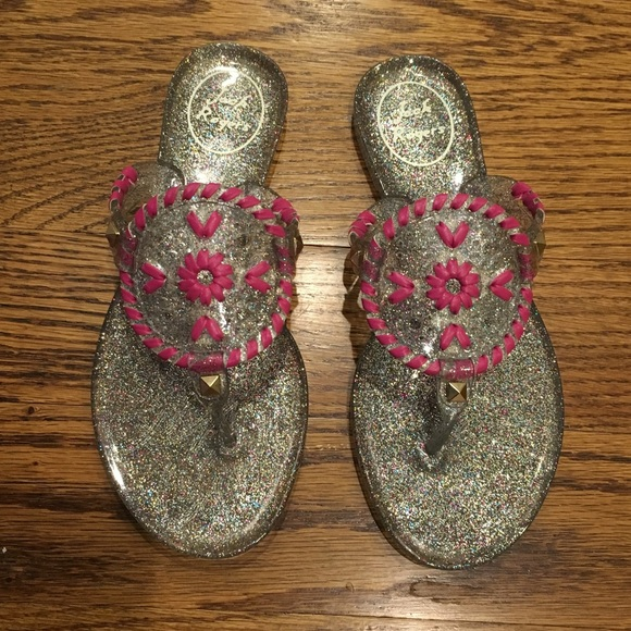 6c1338480f1b Jack Rogers Miss Sparkle Georgica jelly sandals