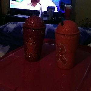 Other - Custom Made Breast Cancer Awareness Tumblers