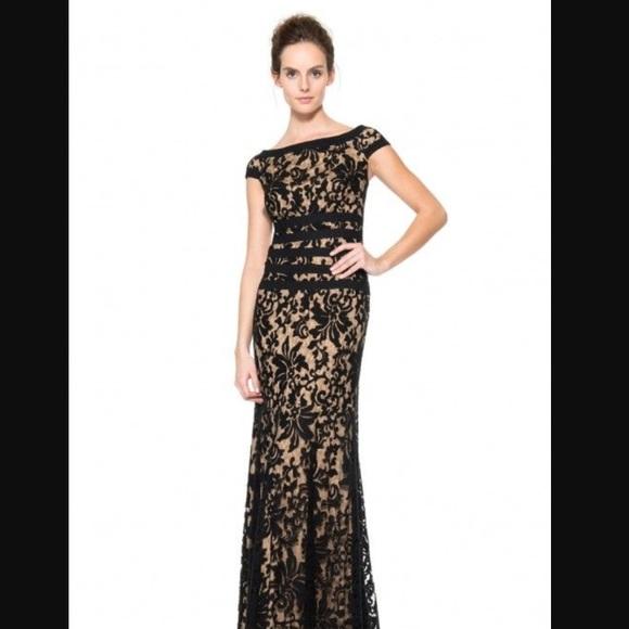 Tadashi Shoji Dresses | Textured Lace Mermaid Gown | Poshmark