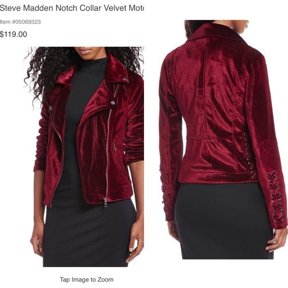 40932f4a69100 Steve Madden Velvet Suade jacket