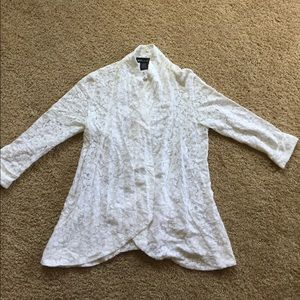 *New With Tags* - White Lace Blazer - Small