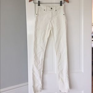 NEW CARMAR 23 distressed ivory jeans from LF