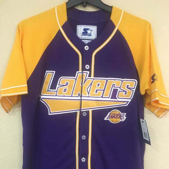 357ba612ab3e Los Angeles LAKERS Baseball Jersey by STARTER