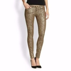 dd2ee6ca7abc4 Seven 7 for all Mankind Jeans - Seven 7 For All Mankind Skinny Jeans Gold  Metallic