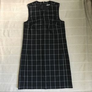 Halogen black-white dress with detachable collar