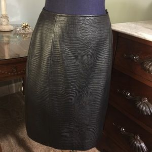 Ralph Lauren black Leather Skirt sz 10