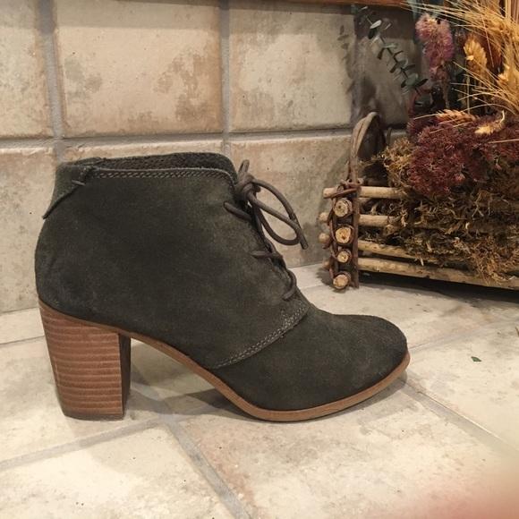 b1ac41bcf97 Toms Shoes - Toms Lunata Lace Up Boot - Size 7 - Olive