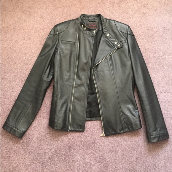 hot sale preview of factory price Ralph Lauren Leather Motto Jacket