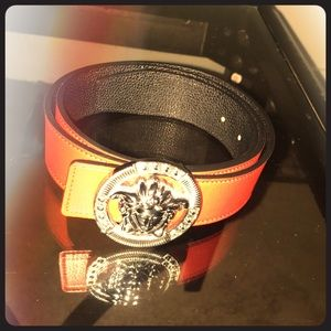 01be7675867e Versace Accessories - Red leather Versace belt