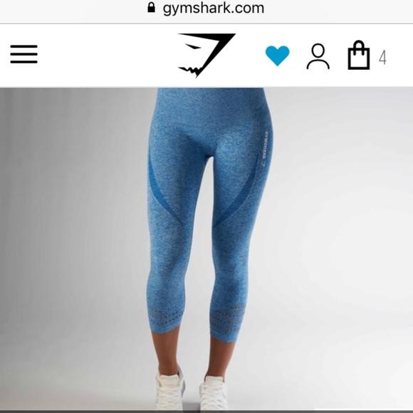 5f039d9c1b24d gymshark Pants | Cropped Seamless Leggings Blueberry Marl | Poshmark