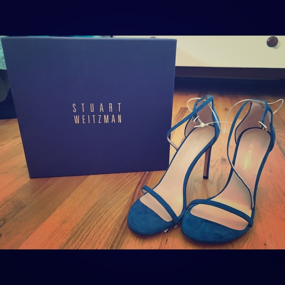 Stuart Weitzman Shoes - Price ✂️ Stuart Weitzman Blue Suede Nudist Heels