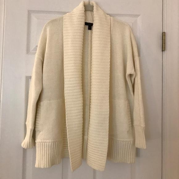 J Crew Sweaters Jcrew Petite Chunky Trim Open Cardigan Sweater
