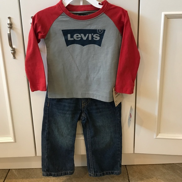 78755c07 Levi's Matching Sets | Levis Baby Boy Jeans And Top | Poshmark
