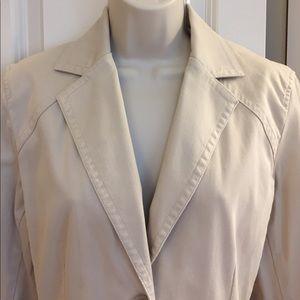 Beige Corduroy Blazer Jacket