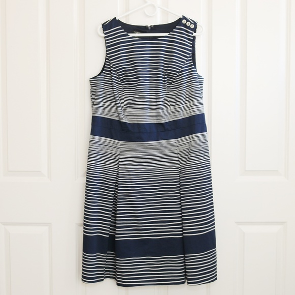 092eee48f9 SALE Talbots Sleeveless Dress Nautical Striped 16W.  M_59d51bb4f0137da57b08d4b0