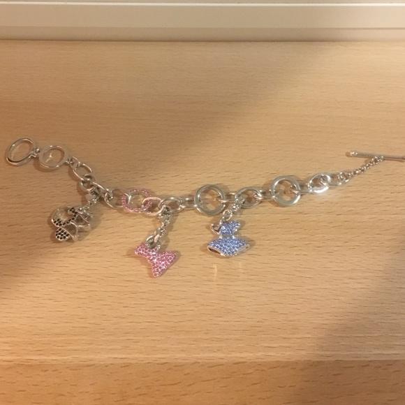 Disney charm bracelet with Swarovski crystals