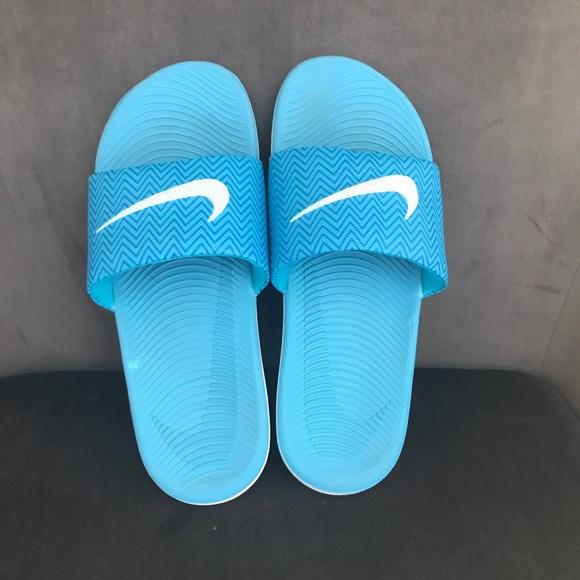 0989018780f Blue Nike Slides. M 59d51e5ec28456cd4108ff30