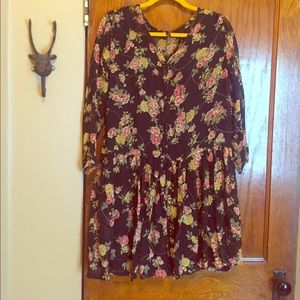 2 price vintage floral print dress