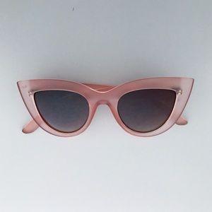 Accessories - Pink Cat Eye Sunglasses - Brown Lens