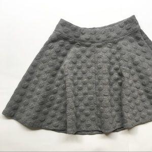 futuristic textured bubble skirt short mini flare