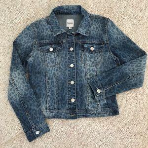 🔥SALE New KENSIE Denim Leopard Distressed Jacket