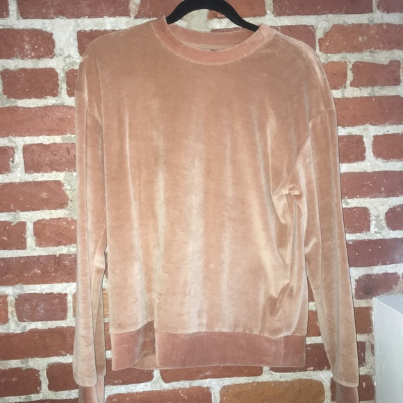 Topshop Sweaters - TOPSHOP CAMEL VELOUR SWEATER