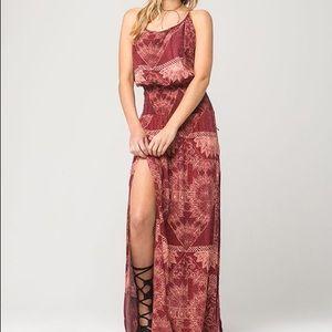 O'Neill Kravitz Boho Strappy Halter Maxi Dress S
