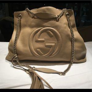 large Gucci soho leather handbag