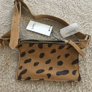 Clare V Petit Leopard/cheetah fanny pack