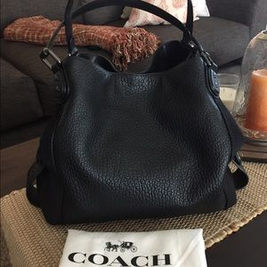 46a7420c COACH Edie Shoulder Bag 42 In Mixed Leathers