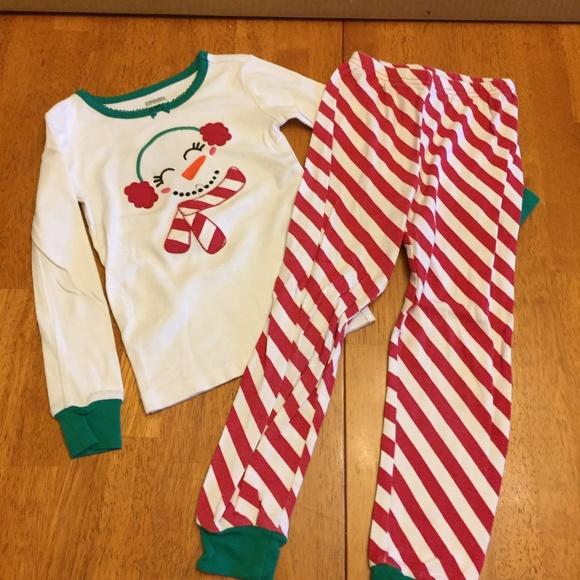 girls gymboree snowman christmas pajama set size 5