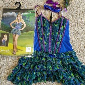 Size medium peacock costume