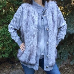 Michael by Michael Kors grey faux fur vest.