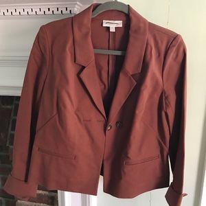 Chestnut brown lightweight boxy blazer Nordstrom