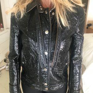 Dolce& Gabbana patent leather coat