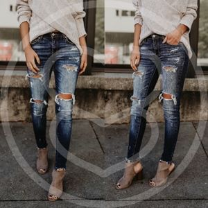 Denim - HAYDEN Distressed Skinnies