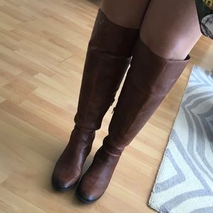 Wide Calf OTK Brown Boots