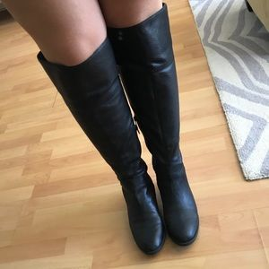 Vince Camuto Black OTK Wide Calf Bootes