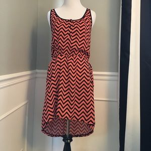 Dresses & Skirts - Boutique High-low Chevron dress size Small
